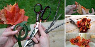 Ružičky z lístia   DIY nápady a návody ako vyrobiť ruže z opadaných listov
