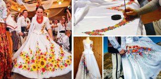Ručne maľované svadobné šaty Goralov sú čoraz populárnejšie