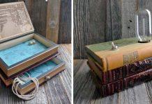 Šperkovnice z kníh | Originálny handmade nápad ako využiť staré knihy