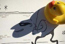 Ilustrácie doplnené tieňmi obyčajných vecí | Vincent Bal
