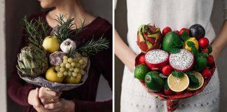 Jedlé kytice z ovocia, zeleniny a byliniek | Karolina Samalė