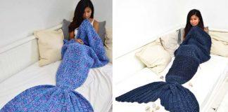 Háčkované deky pre morské panny | Handmade tvorba The Burrow