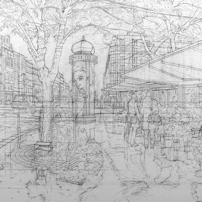 nathan-walsh-britsky-umelec-maluje-mestske-scenerie-podla-ceruzovych-nacrtov-3