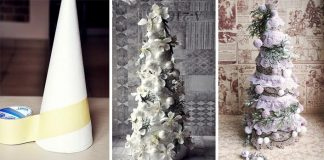 Dekoračný handmade stromček v štýle vintage   Vianočné dekorácie