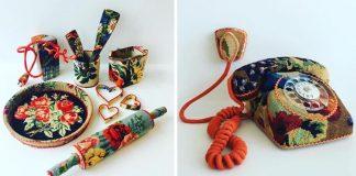 Predmety zdobené krížikovou výšivkou | Ulla Skina Wikander