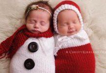 17 bábätiek vo vianočných ručne pletených outfitoch roztopia vaše srdce