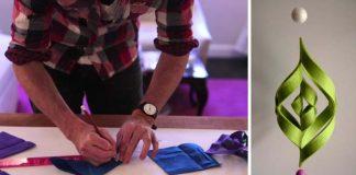 Ogee ozdoba | DIY nápad s návodom na 3D vianočnú ozdobu z filcu