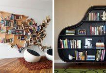 Domáce knižnice   15 kreatívnych nápadov pre inšpiráciu #1