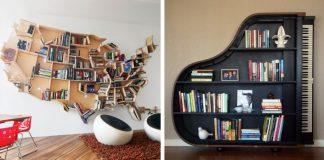 Domáce knižnice | 15 kreatívnych nápadov pre inšpiráciu #1