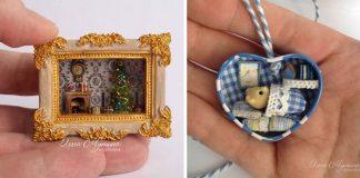 Miniatúrne izbičky a domčeky vás zahrejú pri srdci | Olga Mutina