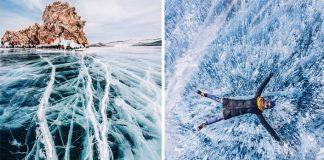 Zamrznutý Bajkal uchvátil fotografku Kristina Makeeva. Toto je výsledok!