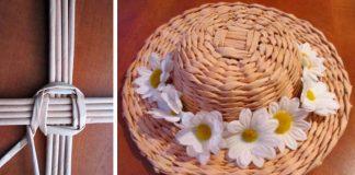 Klobúk pletený z papierových ruličiek | DIY nápad a návod ako sa to robí