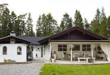 Dom v zemitých farbách sa pýši útulným interiérom a fascinujúcim exteriérom