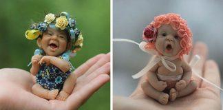 Bábätka z polymérovej hmoty, ktoré vyzerajú realisticky a roztomilo   Elena Kirilenko