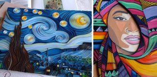 Štruktúrované obrazy technikou quilling | Vesna Rikic
