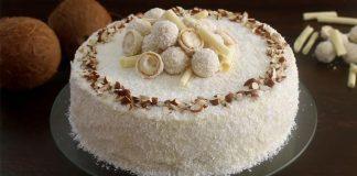 Raffaello torta | Kokosovo-mandľová torta s bielou čokoládou