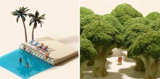 Miniatúrne diorámy na každý deň už 5 rokov | Umenie od Tatsuya Tanaka