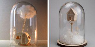 Miniatúrne sochy domčekov dýchajú jemnosťou | Vera van Wolferen