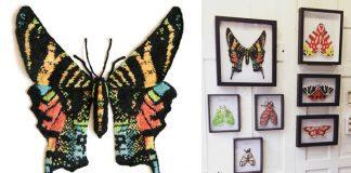 Pletené motýle a mole zo shetlandskej vlny | Max Alexander
