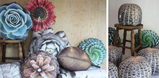 Realistické vankúše s dekorom rastlín | Plantillo od Sabine Herrmann