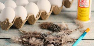 Veľkonočné vajíčka zdobené pierkami | Vtáčie pierka v spojení s technikou decoupage