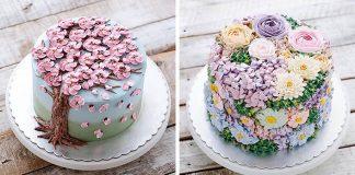 Rozkvitnuté torty | 15+ dezertov, ktoré vyzerajú ako rozkvitnuté kytice kvetov