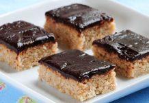 Raw chalva s čokoládovou polevou   Recept na nepečený dezert