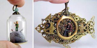 Gregory Grozos vyrába miniatúrne svety v šperkoch | Handmade umenie