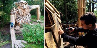 Thomas Dambo tvorí pôsobivé sochy drevených obrov, ktoré ukryl v lese