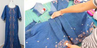 Premena dlhej tuniky zo secondhandu na štýlové šaty | DIY nápad a návod