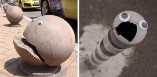 Eyebombing v Bulharsku | Vanyu Krastev lepí na poškodené objekty očká