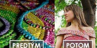 Šaty z obalov od cukríkov | 4 roky a 10 tisíc obalov z cukríkov