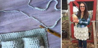 Háčkovaná zástera na zbieranie vajec | Kreatívny DIY nápad