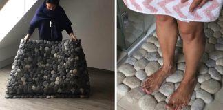 Koberce z plstených kameňov | Handmade tvorba Martina Schuhmann