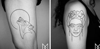Tetovania jedným ťahom tvoria neuveriteľne premyslené motívy | Mo Ganji