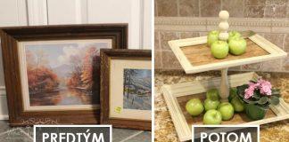 Etažér z rámov obrazov | Návod ako premeniť staré rámy na etažér