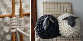 Pletená ovečka | Hrejivý handmade vankúš, hračka a dekorácia v jednom