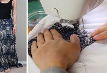 Maxi sukňu zo secondhandu premenila na 6 DIY módnych kúskov