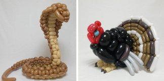 Sochy zvierat z balónov spod rúk umelca Masayoshi Matsumoto