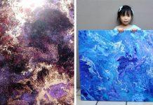 5 ročná Cassie maľuje vesmírne obrazy. Z ich predaja prispieva na charitu