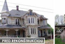 Rekonštrukcia ošarpaného domu z roku 1887, ktorý bol neobývateľný