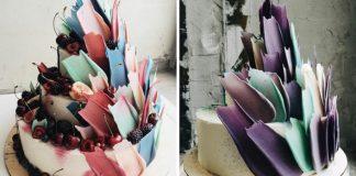 Svoje torty zdobia čokoládovými ťahmi štetca, čím vyzerajú ako veľmi chutný kúsok umenia!