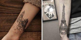 Tetovania inšpirované architektúrou | 15 tetovaní majestátnych budov