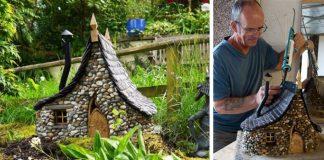 Miniatúrne kamienkové domčeky na záhradu | DIY nápady a návod