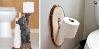 Nápady na držiaky na toaletný papier   25 kreatívnych inšpirácii