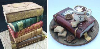 Torty v tvare knihy | 15 nápadov, ktoré prekvapia každého milovníka kníh!