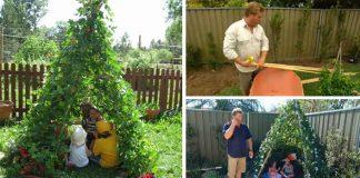 Záhradné teepee pre deti | Návod na indiánske teepee obrastené zeleňou