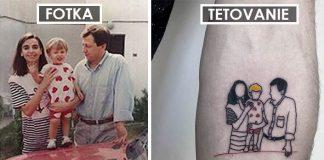 Nostalgické tetovania zachytávajú spomienky z detstva | PigmentNinja