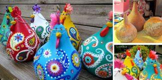 Sliepočky z tekvíc   Kreatívny DIY nápad na maľované tekvicové sliepky