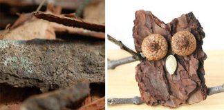 Sovička z kôry stromu   Kreatívny DIY nápad a návod na prírodnú ozdobu